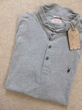 "ALL SAINTS GREY MARL ""BRAMFORD"" SS LOGO POLO T-SHIRT TOP - XS XXL - NEW TAGS"