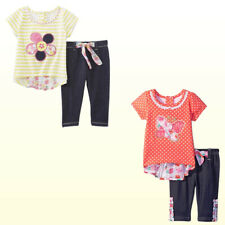 NWT Nannette/Young Hearts Toddler/Baby Girls Top & Legging 2 Pc  Sets New