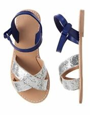 NWT Gymboree Blue Safari Silver Blue Sandals shoes 9 10 11 12 1 Girls