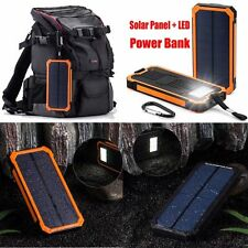 300000mAh Waterproof Solar Power Bank  USB Portable External Battery Charger ~F