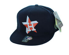 New! Houston Astros Fitted Hat 3D Embroidered Cap - Navy Blue
