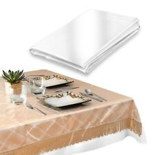 HEAVY DUTY VINYL TABLECLOTH SPILL DAMAGE PROTECTOR EASY CARE - CLEAR - ALL SIZES