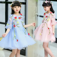 Flower Girl Fairy Kid Princess Tulle Dress Party Wedding Pageant Birthday Gown