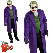 The Joker Batman Dark Knight  Mens Villain Halloween Fancy Dress Movie Costume