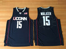 NCAA Kemba Walker #15 UCONN Blue White Men Stitched Basketball Jersey S - 2XL