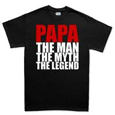 Papa Man Myth Legend Father's Day Gift Mens T shirt Tee Top T-shirt