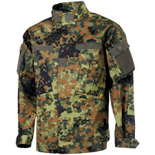 MFH Mens ACU Ripstop Uniform Shirt US Army Combat Field Jacket Flecktarn Camo