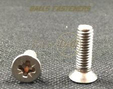 M4 Machine Screws Pozi Countersunk CSK A2 Stainless Steel