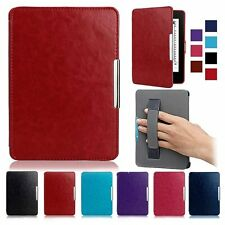 Smart Ultra Slim Hand Strap Magnetic Leather Stand Case Skin For Amazon Kindle 7