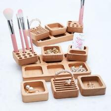 Unfinished Jewelry Box Wooden Holder Storage Organizer Ring Earrings Necklace
