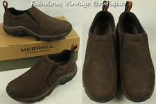 New Mens Shoes MERRELL Jungle Moc Brown Suede Leather Loafers Slip On Shoes 9