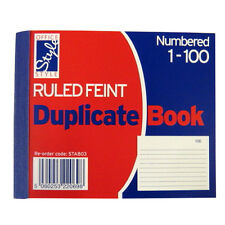 Mini Duplicate or Invoice Duplicate Book - 1 to 100 Numbered Pages - Ruled