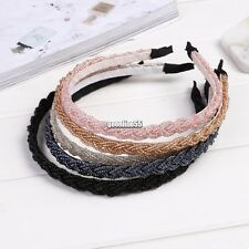 New Womens Fashion Twisted Beads Headband Hair Band Head Piece Hair Hoop EA9