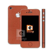Apple iPhone 4S Leather Skin Decal Vinyl Cover Case Sticker