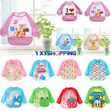 Infant Kid Baby Unisex Waterproof Long Sleeve Bib Apron Waterproof Feeding Smock