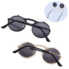 Women's Glasses Steampunk Lens Vintage Fashion Mirrored Oversized Sunglasses HOT