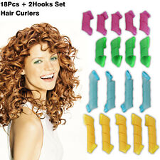 18PCS Hair Rollers Styling Snail Roll Magic Leverag Spiral Bendy Curler Tool