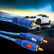 1.5/3/5M 3.5MM Male To 2RCA Male Stereo Audio Cable One To Two AUX Audio Cable~F