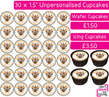 30 BLACKPOOL FOOTBALL TEAM EDIBLE WAFER & ICING CUPCAKES TOPPERS PARTY FC