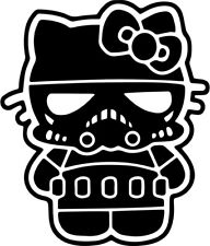Hello Kitty - Storm Trooper - Vinyl Car Window and Laptop Decal Sticker