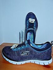 NEW Skechers Knit Bungee Slip-On Walking Shoe 9 MED Stretch Fit Black 22722