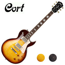 Cort CR250 Single Cut Set in Neck Mahogany Flame Maple Top HH Electric Guitar