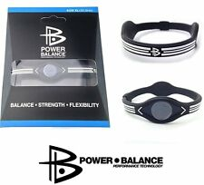 Power Balance Silicone Bracelet Avantgarde Black Pro Ion Uni Sports Version 2
