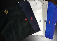 Ralph Lauren Polo Mens Crew Neck Custom Fit Logo Pony T-Shirt Short Sleeve Tee