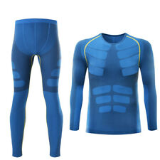 Winter Mens Thermal Underwear set Fitness Quick Dry Compression shirt long johns