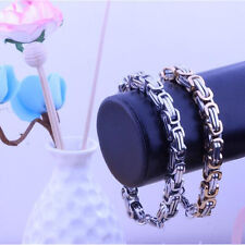 Fashion Jewelry Man's Stainless Steel Handsome Snake Chain Bracelet