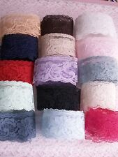 Lace, Flat Lace Trim, 2 In Wide, Assorted Colors, 10 YARDS, Rachel Lace