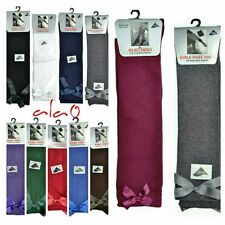 6 Pairs Bow Knee high socks school girls/kids all size&colour with 10 to 30% OFF