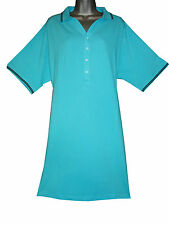 PLUS SIZE 100% COTTON PIQUE POLO DRESS WITH CONTRAST STRIPES SPECIAL OFFER