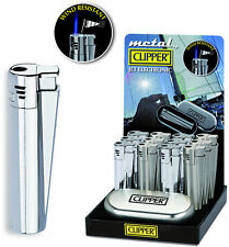 GENUINE METAL CLIPPER LIGHTER JET FLAME WINDPROOF CHEAP - FREE GIFT CASE