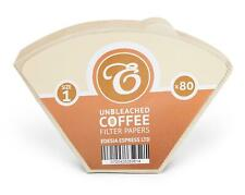 Size 1 / 101 / 1K Coffee Filter Paper Cones, Unbleached - Melitta equivalent