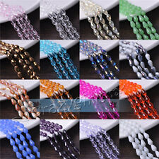 Lots 100pcs 12x8mm Teardrop Faceted Crystal Glass Spacer Beads Jewelry Making