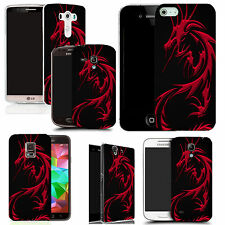 pictoral case cover for most Popular Mobile phones - red dragon