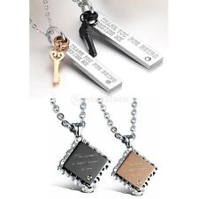 316L Stainless Steel Matching Couple Valentines Anniversary Necklace Jewelry