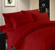 800TC/1000TC Red Egyptian Cotton Bedding Item-Duvet Cover/Sheet Set/Fitted