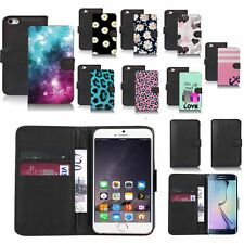 black faux leather wallet case cover for popular mobiles design ref z126