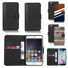 black faux leather wallet case cover for many mobiles design ref z588