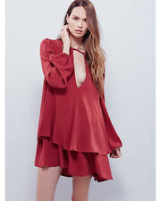 New Free People Red Beck Dress Made In Philadelphia X-Small $128 XS