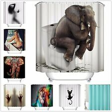 "1 x Custom Funny Bathroom Shower Curtain Polyester Fabric Waterproof 72""x72"" 41"