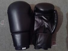 Boxing Gloves (Leather) in 6 8 10 12 14oz Black Blue Red Gym MMA