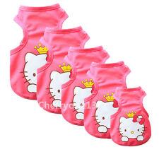 Pink Girl Dog Clothes Pet Puppy Cat Vest Apparel Costume Summer Spring T-shirt