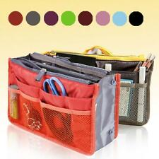 Travel Pouch Insert Tidy Make-up Handbag Cosmetic Bag Purse Organizer