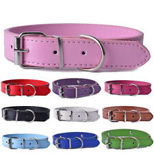 Dog collar Colorful Pu Leather pet puppy Collars Adjustable Pet cat Neck Strap