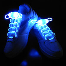 Chic 1Pair LED Shoelaces Flash Light Up Glow Stick Strap Shoe Laces Disco Party