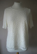 NEW - M&S - size 8 10 12 - gorgeous White/ Ivory ladies LACE TOP/ tunic - BNWoT
