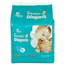 Apollo BabyBest Diapers Large /Small 10's - Free Shipping